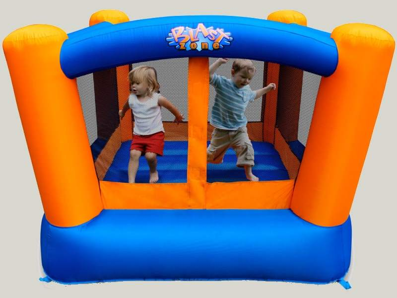 kids outdoor fun - bounce house - swings