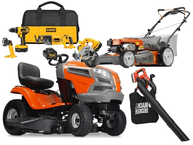 lawn mowers, trimmers, weed eaters, leaf blowers, power tools, pressure washers